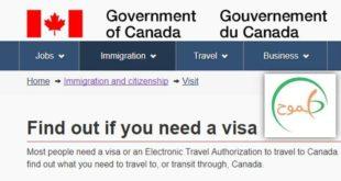 فيزا زيارة إلى كندا
